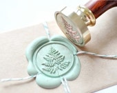 B20 Wax Seal Stamp Fern Leaf