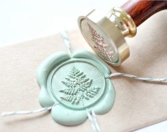 B20 Wax Seal Stamp Fern Leaf