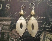 Mother of Pearl Shell and Bone Earring- wedding-bridal-mothers day