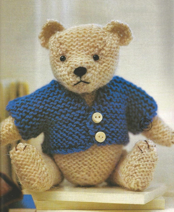 Tiny Teddy Toy Bear PDF Knitting Pattern DOWNLOAD by BoPeepStore