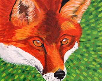 Fox Home Decor, Fox Wall Art, Fox Picture, Fox Painting, Red Fox Decor, Red Fox Wall Art, Red Fox Art Print, Fox Fine Art, Item # SMFP2015