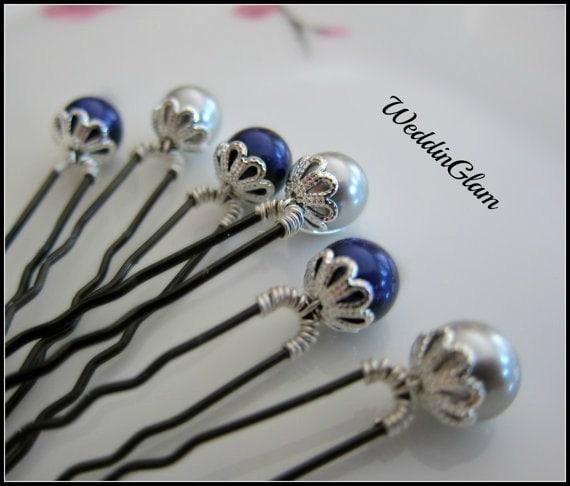 Something Blue Hair Pins Wedding Hair Accessories