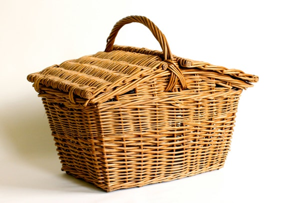 Large Picnic Basket - English Wicker Basket - CrolAndCo