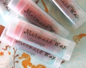 Clarasage Mermaid Wax  Lip Balm with Mango Butter and Natural Mango Coconut Flavor - 98% Organic