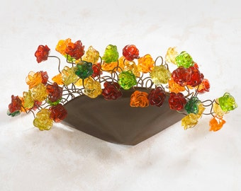 Wall sconce light with Warm color flowers,wall lamp for hall, bedside lamp, bathroom or over mirror