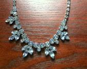 Blue Rhinestone Necklace Dance, Wedding, Party.