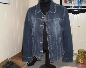 Denim Stretch Tapered Jacket Large by AML
