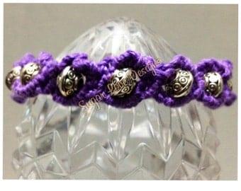Purple beaded, friendship bracelet