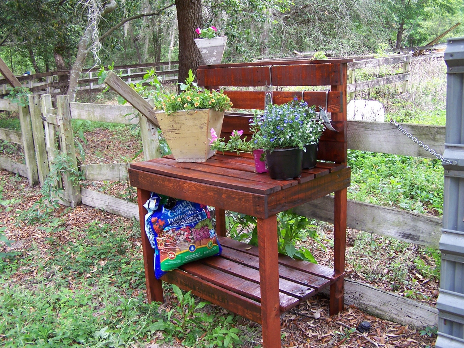 Potting Table Bench From Recycled Upcycled Reclaimed Lumber