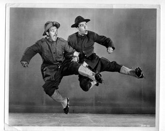 Vintage Press Photo Larry Jackson and Bernie Lyman in Brigadoon Ice-Capades 1953 Ice Skaters Celebrities