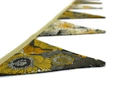 Yellow floral triangle bunting