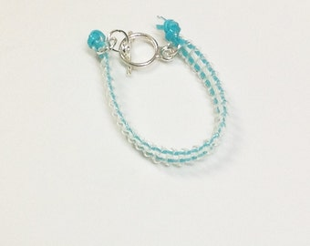 Light blue zipper bracelet