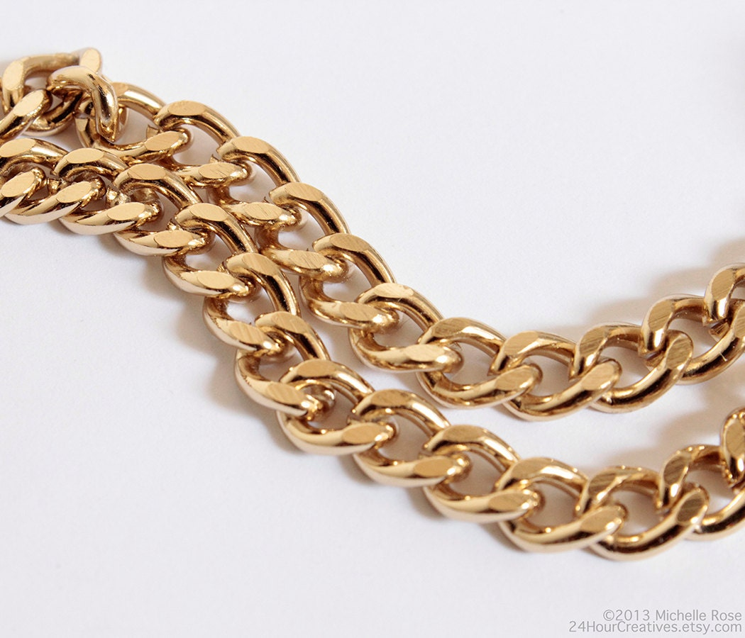 Gold flat chain for men