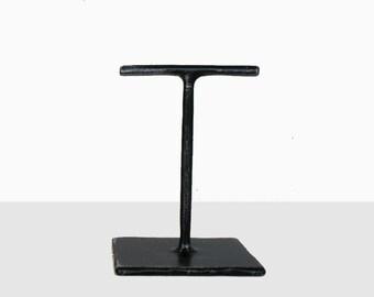 Mini Fabricated Steel T Stand - Earring Holder - Dark Brushed Steel Jewelry Display
