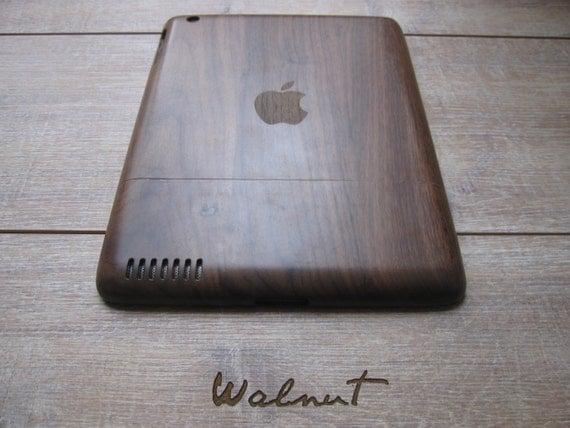 ipad 3 h lle holz h llen bambus und nussbaum apple logo. Black Bedroom Furniture Sets. Home Design Ideas