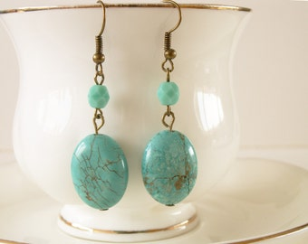 Summer Turquoise - semi precious and Czech bead