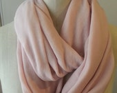 Infinity Scarf Sheer Knit Cashmere  - Pastel Blush - MiniRuin