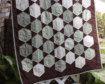 Wordplay Hexegon Quilt