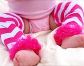 Baby Leg Warmer... Baby Girl Leg Warmers...Pink & Hot Pink Chevron Leg Warmers.. Newborn Prop
