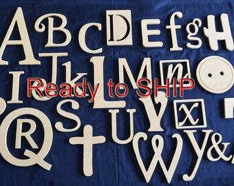 Wooden Alphabet Letters Set, Wall HangingLetters, READY TO SHIP- Wall Letters- Nursery Letters- Nursery Decor- Wall Art