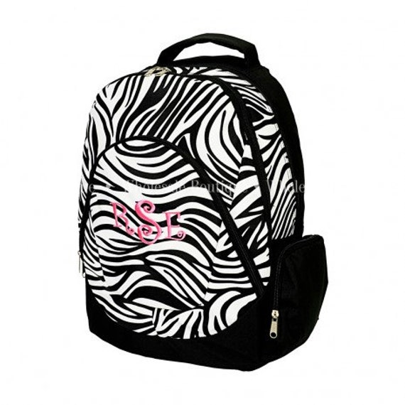 Zebra Backpack personalized FOR FREE  just for you.