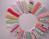 Mixed bag of alligator clips, 50 designs girls hair accessories with grosgrain and sateen ribbon colourful designs,