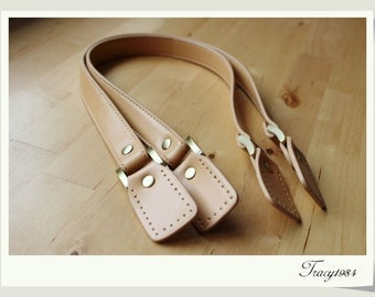 """61cm or 24"""" Synthetic Leather Tote Purse Straps in Tan Color"""