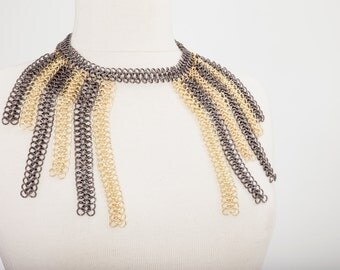 Fringe Chain Necklace, Body Harness Jewelry