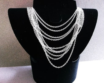 30 Silver Chain Necklaces ( 16.5 in ) .. Silver Chains, Silver Necklaces, Jewelry Findings, Jewelry Supplies, Jewelry Silver Chains