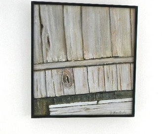 vintage original artwork faux bois wood painting