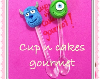 Mini spoon or Cupcake topper Monsters Inc.