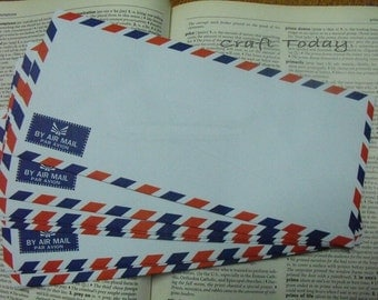 Vintage Style  Air Mail Envelopes Set of 30  / Size: 108 mm. X 235 mm. ( 10.8 Cm. X 23.5 Cm. )