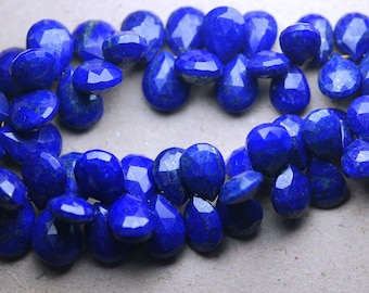 40 Pcs of Extremely Beautiful-Super Quality, LAPIS LAZULI Micro Faceted Pear,12-16mm Size