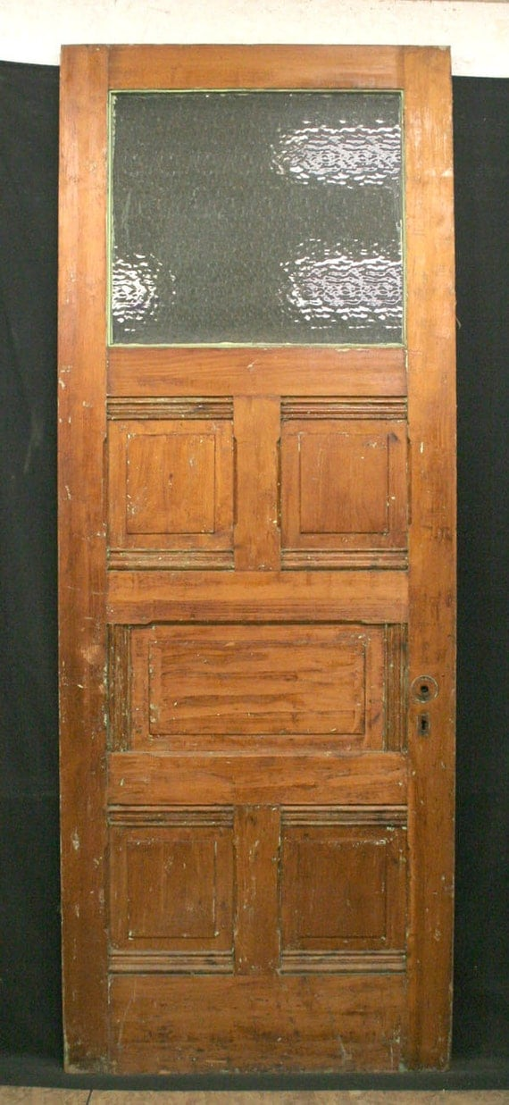 34x90 Antique Exterior Door Floral Textured By Pennantiquerestore