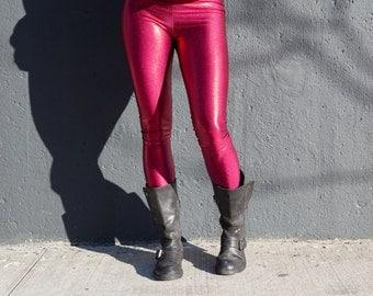 Red Hot Metallic leggings
