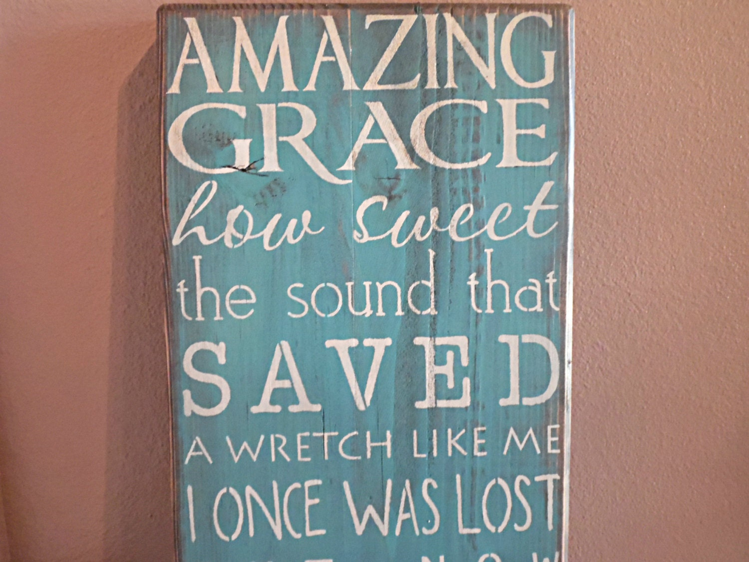 Amazing Grace Wall Art wooden sign amazing grace subway art wall hanging wall