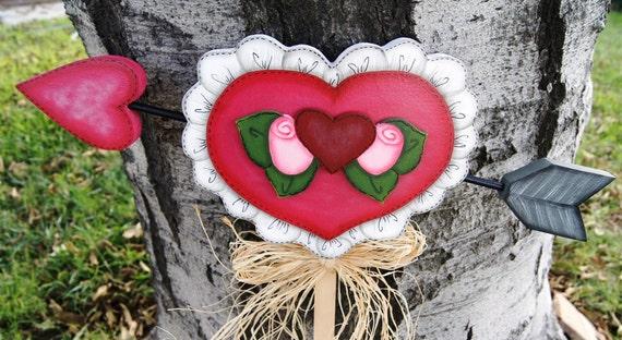 Valentine Cupid Heart Valentine Outdoor Decoration Wood