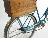 Vintage Martin Senour Paint & Varnish Upcycled Bicycle Crate