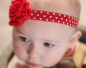 Ready to ship-Valentine's Day Headband-Newborn Headband-Baby Girl Headband-Baby Headband-Baby-Baby Girl-Baby Headbands-Infant Headband