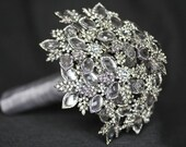 DEPOSIT LISTING   Platinum Brooch Bouquet Custom Made Just For You