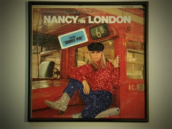 Glittered Record Album - Nancy Sinatra - Nancy in London