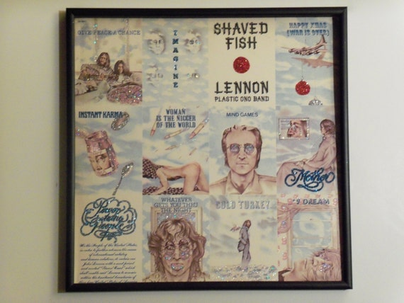 Glittered Record Album - Lennon Plastic Ono Band - Shaved Fish