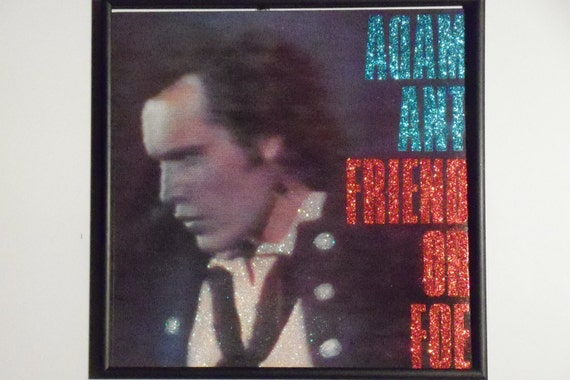 Glittered Record Album - Adam Ant - Friend or Foe