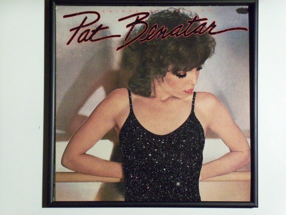 Glittered Record Album - Pat Benatar - Crimes of Passion