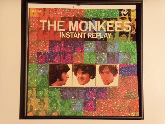 Glittered Poster - The Monkees - Instant Replay (Rhino Records release)