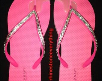 Swarovski flip flops