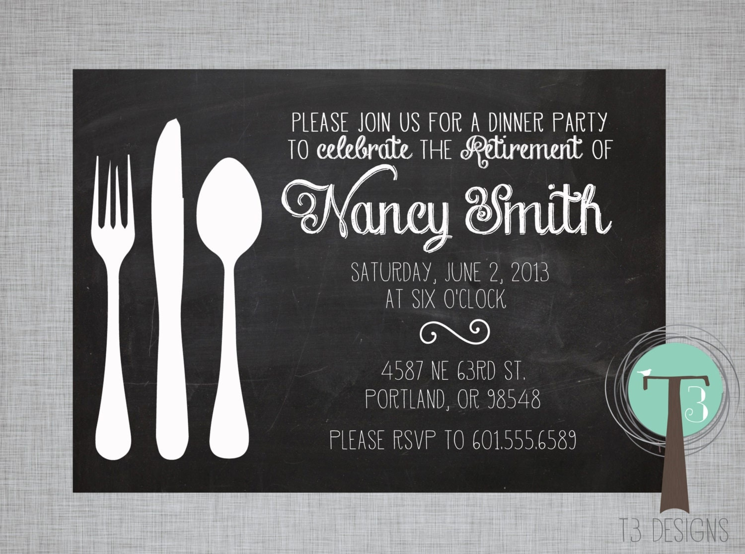 Retirement Party Invitation Dinner Party invitation