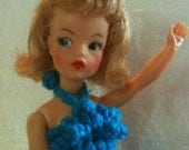 Vintage Tammy doll by ideal 1960s in a beautiful crochet dress