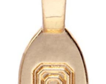 5 - Med/Large Smooth Gold Plated Glue on Bail