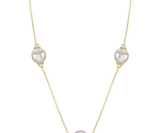 Paspaley South Sea Cultured Pearls By The Yard Necklace 14K Yellow Gold (10mm)